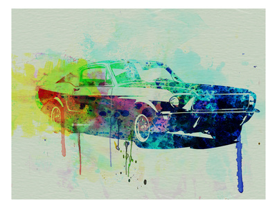 Buy Ford Mustang Watercolor 2 at AllPosters.com