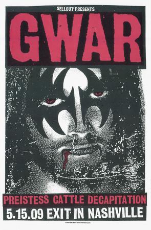 Gwar: Jesus/Gene Serigraph