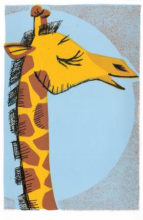 Giraffe Serigraph