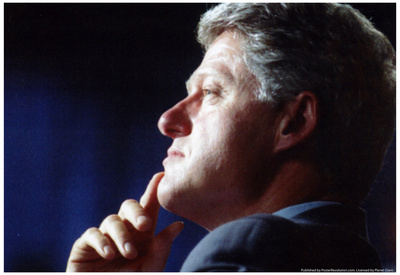 Bill Clinton Archival Photo Poster