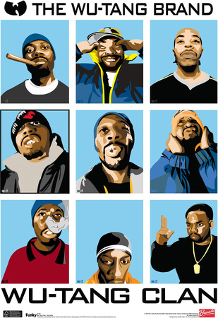 Wu Tang Clan Animated Music Poster - Buy this poster at AllPosters.com