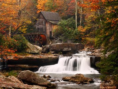 Glade Creek Mill, West Virginia Art Print