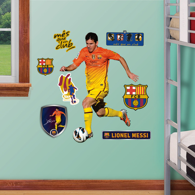 Buy FC Barcelona Lionel Messi Junior Wall Decal Sticker at AllPosters.com