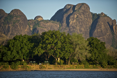 A View of the Lugenda Wilderness Camp in the Niassa Reserve