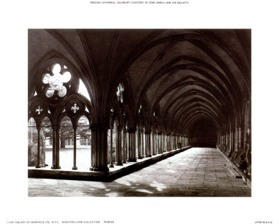 English Cathedral, Salisbury Cloisters