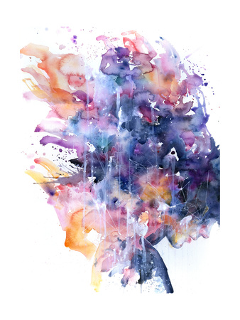 In A Single Moment All Her Greatness Collapsed by Agnes Cecile art print by Agnes Cecile