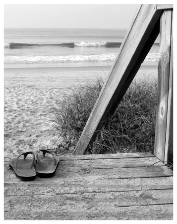 Sandals by the Sea Art Print