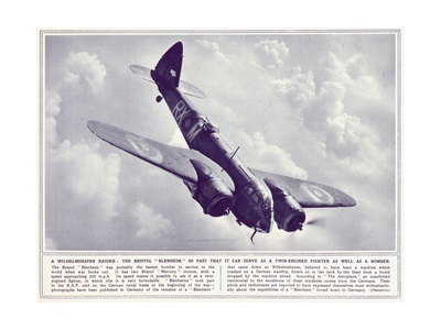 A Bristol 'Blenheim', from 'The Illustrated War News', Published 22nd November 1939