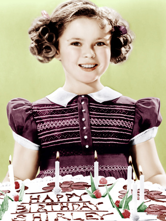 JUST AROUND THE CORNER, Shirley Temple celebrates her birthday, on set, 1938.