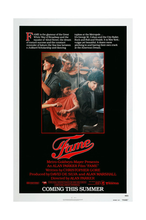 FAME, US poster, from bottom left: ...