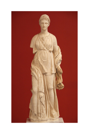 Greek Art. Greece. Artemis Statue Carved in Parian Marble