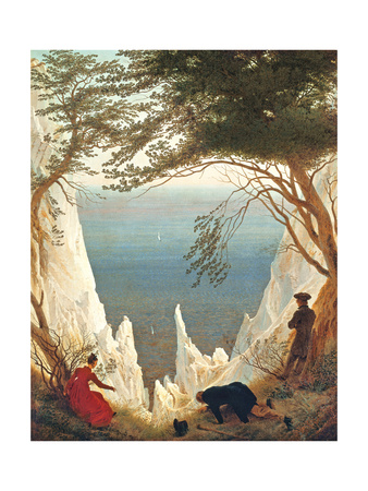 Chalk Cliffs On Rugen affiche par Caspar David Friedrich