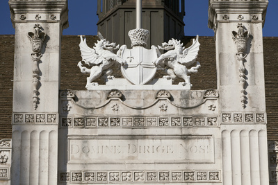 Crest Above the Main Entrance to the Guildhall, City of London, England
