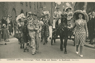 London Life, Costermonger Pearly Kings and Queens in Southwark
