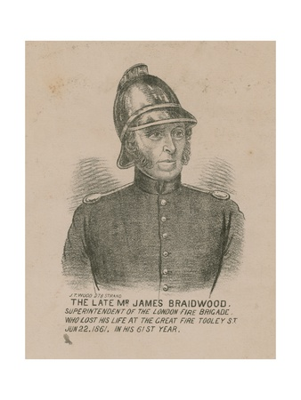 James Braidwood, Superintendent of the London Fire Brigade