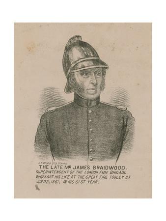 James Braidwood, Superintendent of the London Fire Brigade