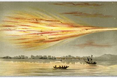 Meteorite Explosion, Historical Artwork