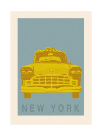 New York - Cab - Premium Giclee Print