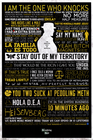 Breaking Bad - Typographic Television Poster