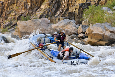 Rafters Going Through Rapids, Grand ...