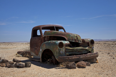 Derelict Truck Near Fish River Canyon, Southern Namibia