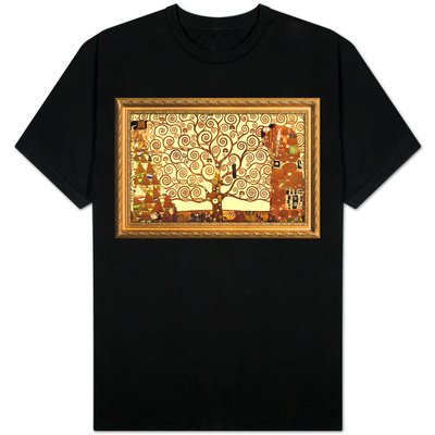 Gustav Klimt Tree of Life with Gilded Faux Frame Border