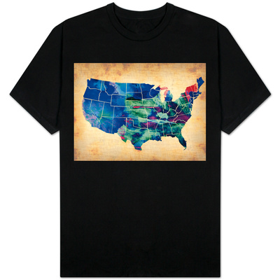 Usa Watercolor Map 3