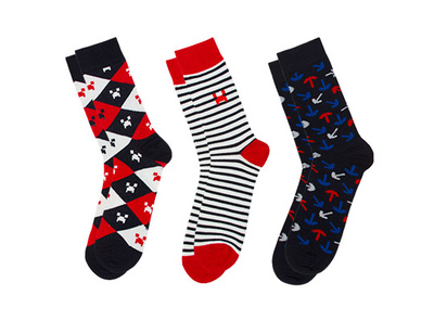 Minecraft Socks 3 Pack - Navy