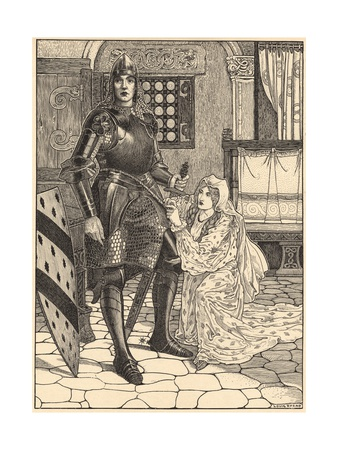 Illustration of Geraint and Enid