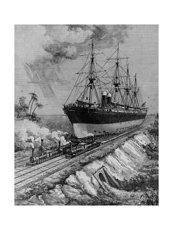 Conceptual drawing of Interoceanic Ship Railway.