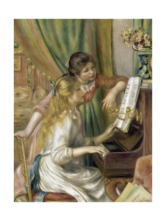 Young Girls At The Piano..