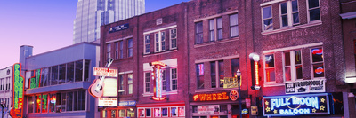 Neon Signs on Buildings, Nashville ...