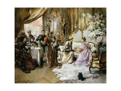 An Elegant Tea Party in the Artist's Studio