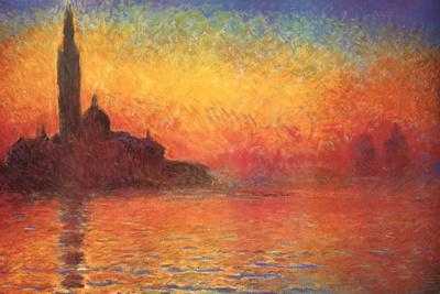 Monet Dusk Venice Affordable Art Poster