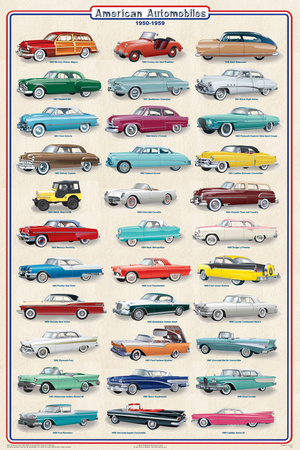 Buy American Autos 1950-1959 at AllPosters.com