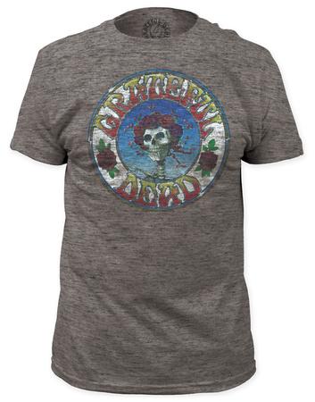 Grateful Dead - Skull & Roses Distressed (slim fit) Apparel T-Shirt