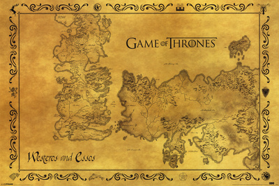 Game Of Thrones - Antique Map Television Poster