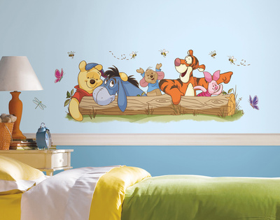 Winnie the Pooh - Outdoor Fun Peel and Stick Giant Wall Decals Wall Decal