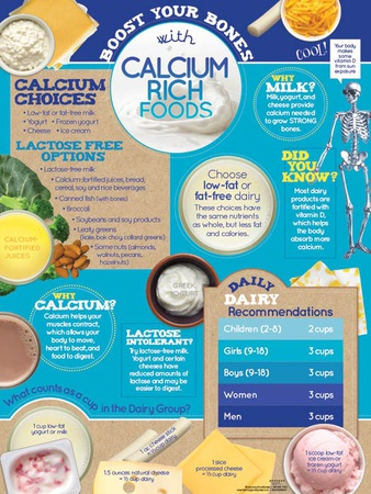 Boost Bones With Calcium Rich Foods Poster