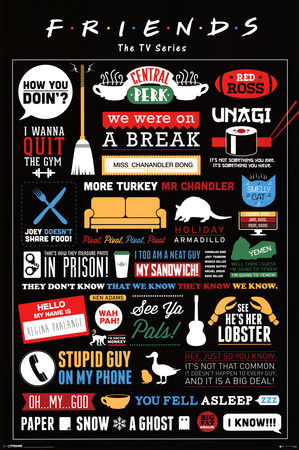 Friends Infographic Television Poster