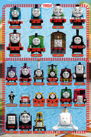 Thomas and Friends - Characters Television Poster