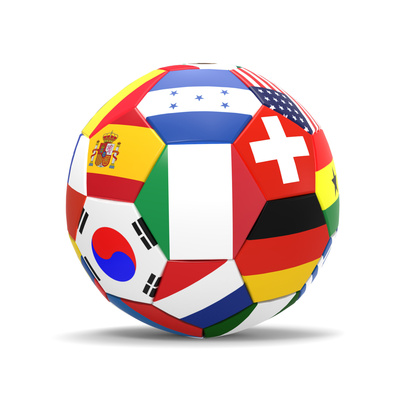 Buy Football and Flags Representing All Countries Participating in Football World Cup in Brazil in 2014 at AllPosters.com