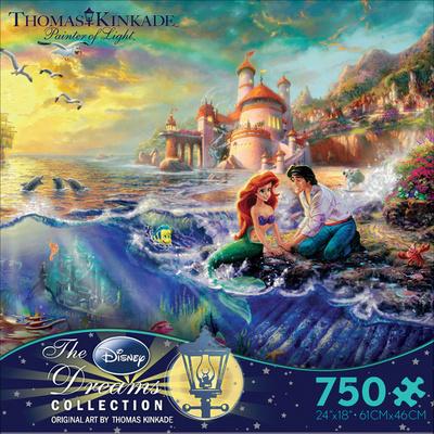 Thomas Kinkade Disney Dreams - The Little Mermaid 750 Piece Jigsaw Puzzle Jigsaw Puzzle