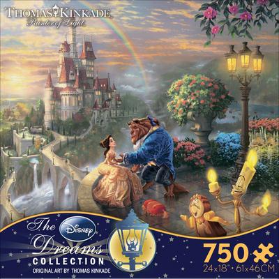 Thomas Kinkade Disney Dreams - Beauty and the Beast 750 Piece Jigsaw Puzzle Jigsaw Puzzle