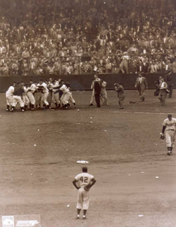 Bobby Thomson - 1951 Home Run Celebration (at home plate) - ©Photofile