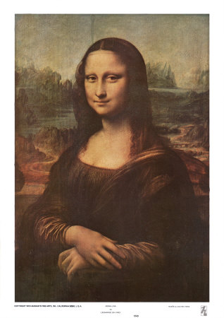 Print of Mona Lisa from Art.com