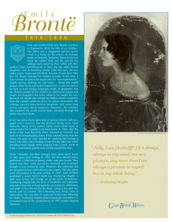 Great British Writers - Emily Bronte