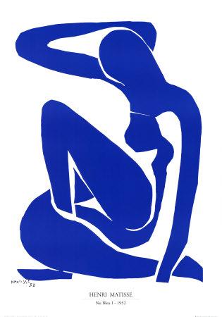 Nu Bleu I, c.1952 - Art Print