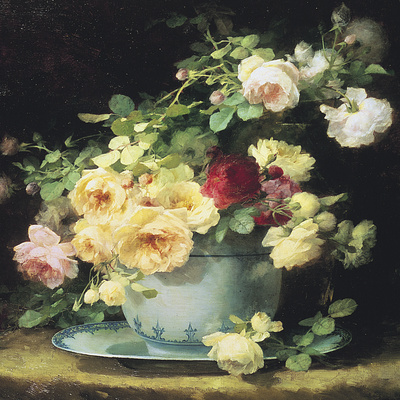 Roses in a Porcelain Bowl (detail)