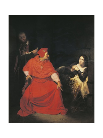 France, Rouen, Sick Joan of Arc Is Interrogated in Her Prison by Cardinal of Winchester